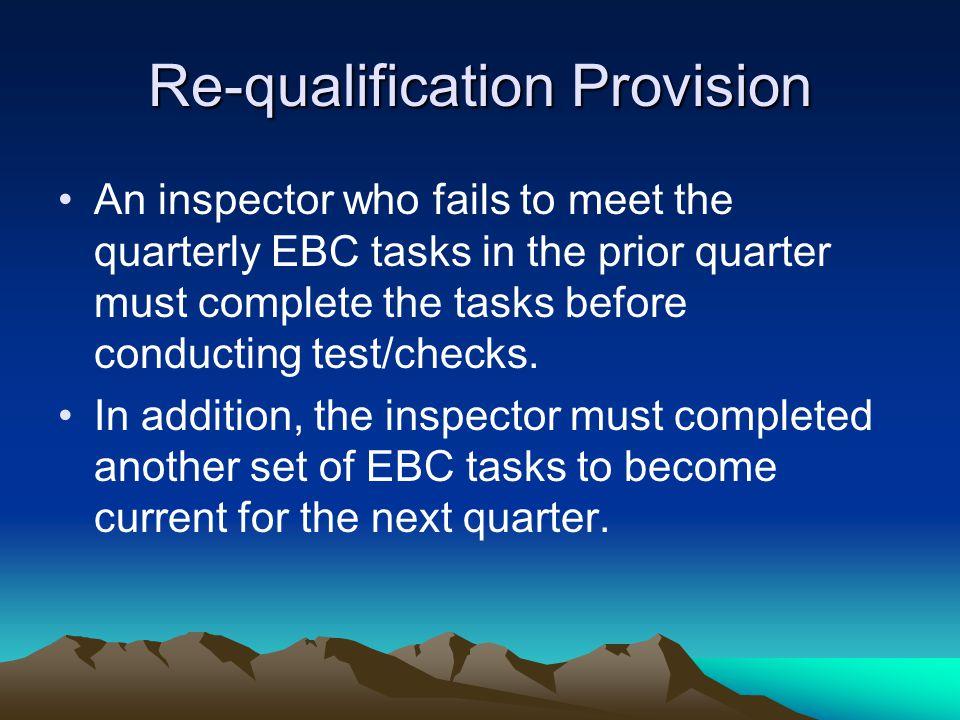 Re-qualification Provision