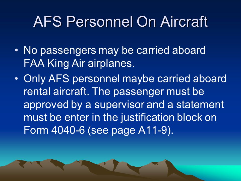 AFS Personnel On Aircraft