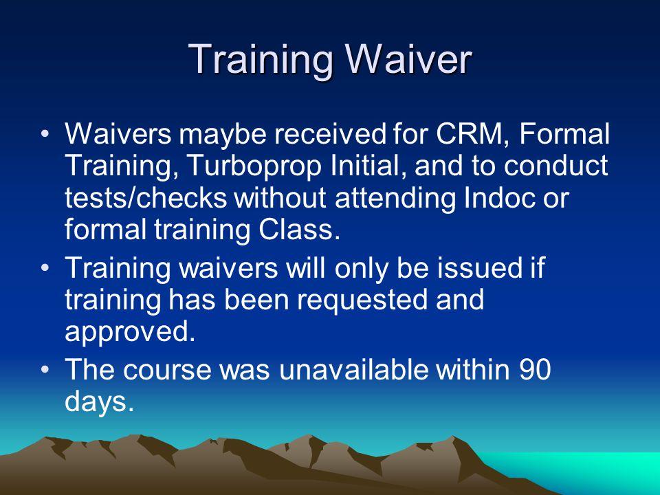Training Waiver