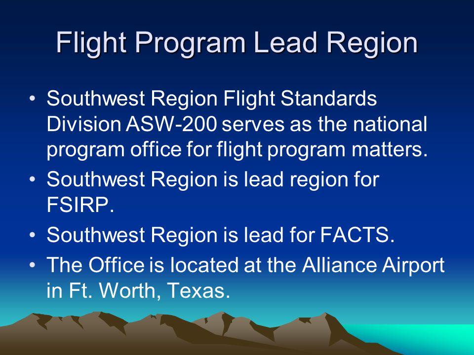 Flight Program Lead Region
