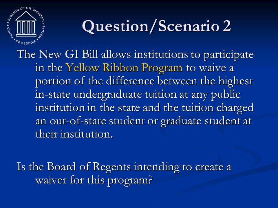 Question/Scenario 2