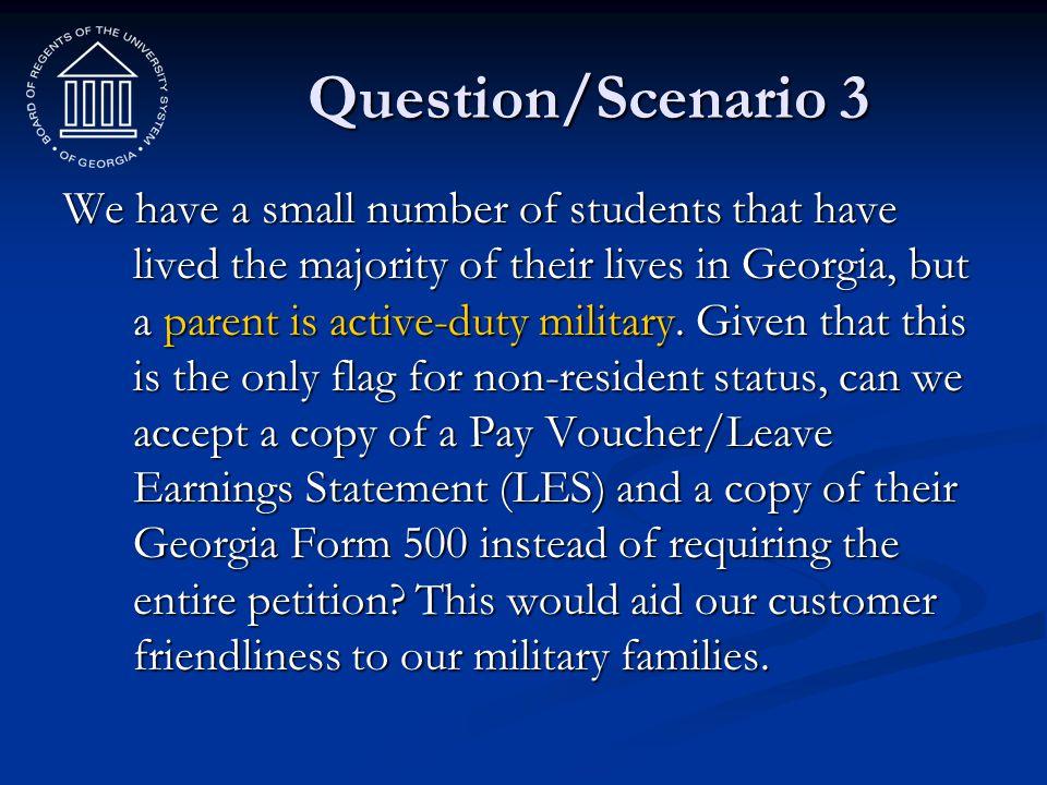 Question/Scenario 3