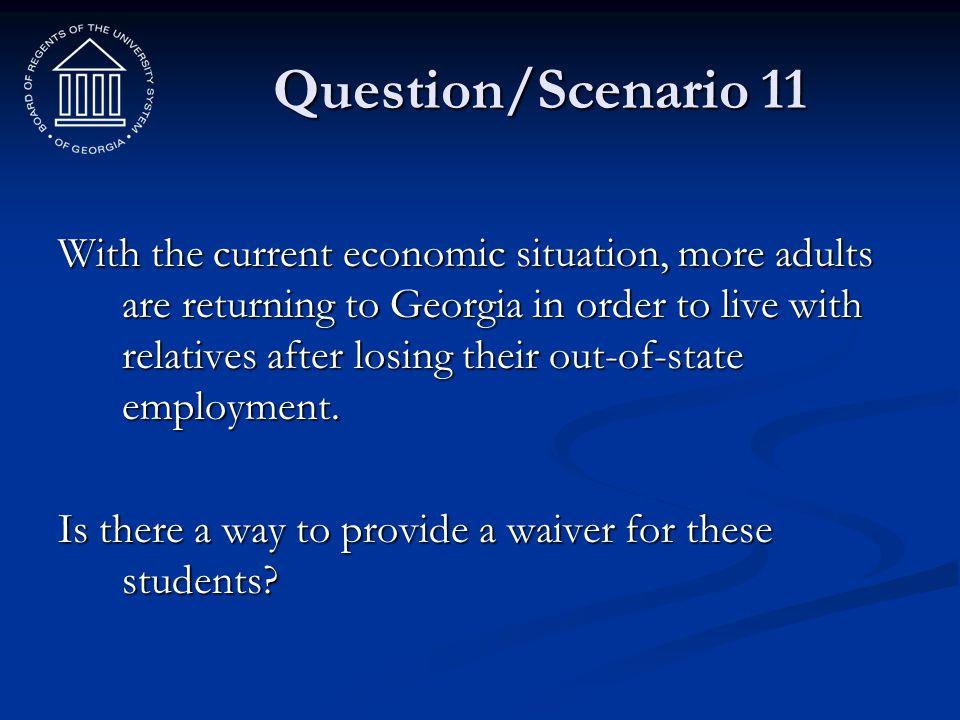 Question/Scenario 11