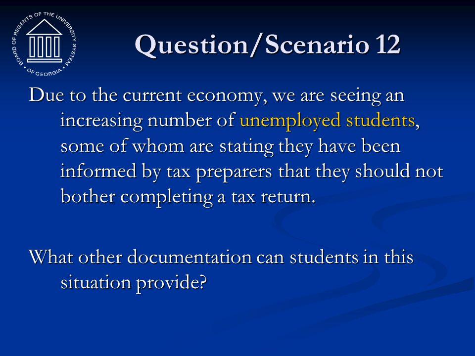 Question/Scenario 12
