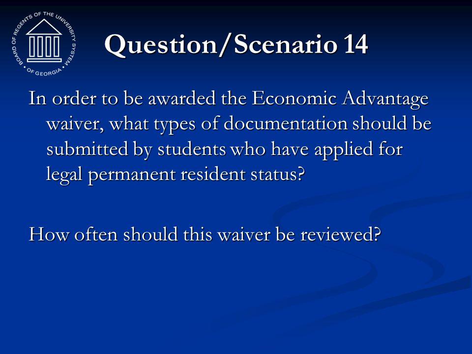 Question/Scenario 14