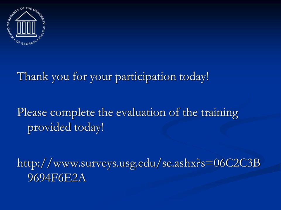 Thank you for your participation today!