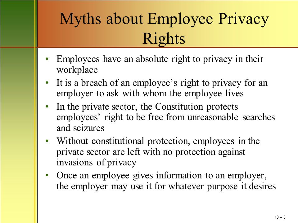 Myths about Employee Privacy Rights