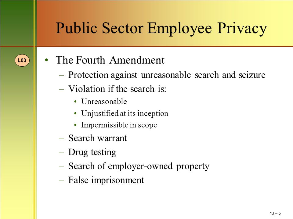 Public Sector Employee Privacy