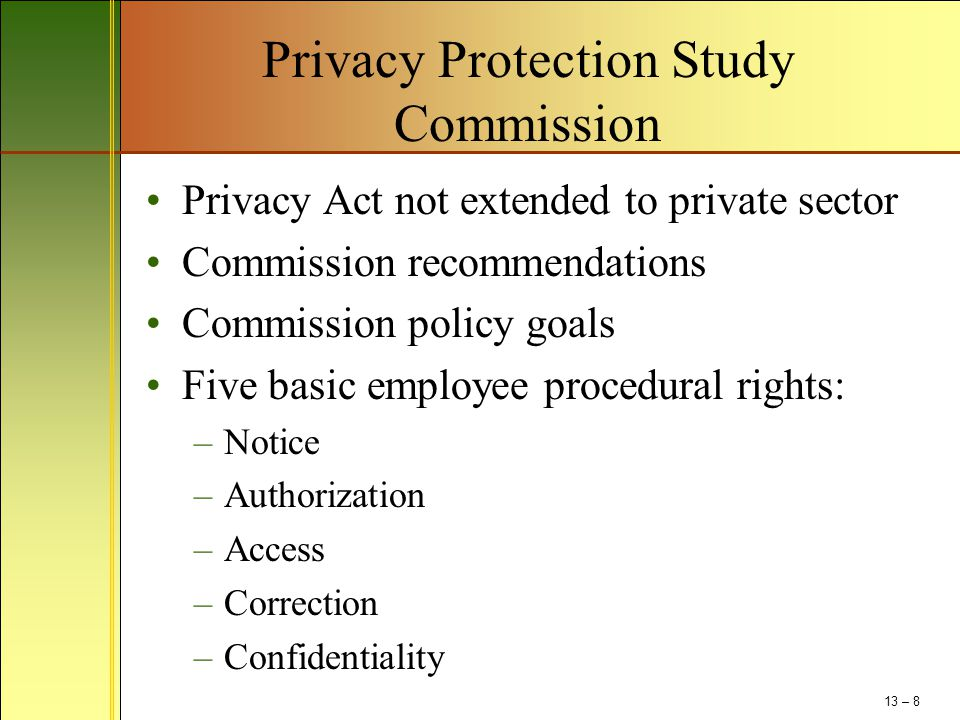 Privacy Protection Study Commission