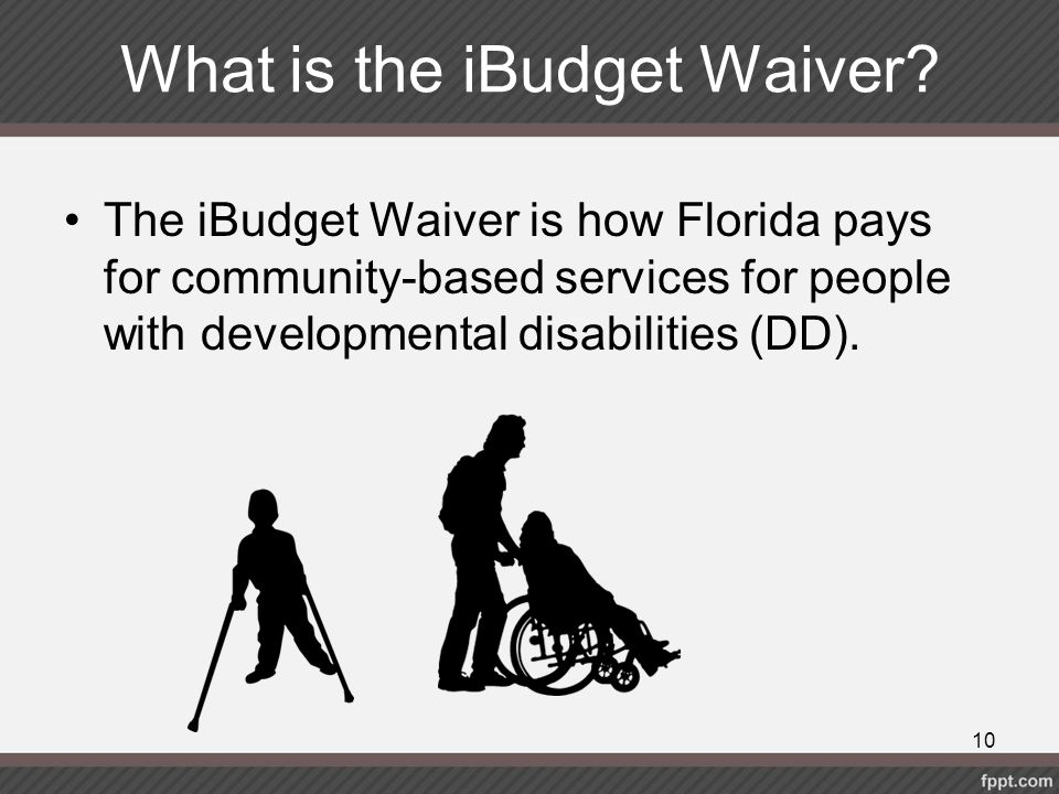 What is the iBudget Waiver