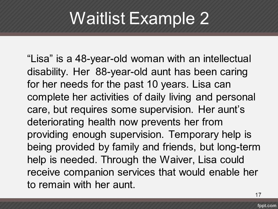 Waitlist Example 2