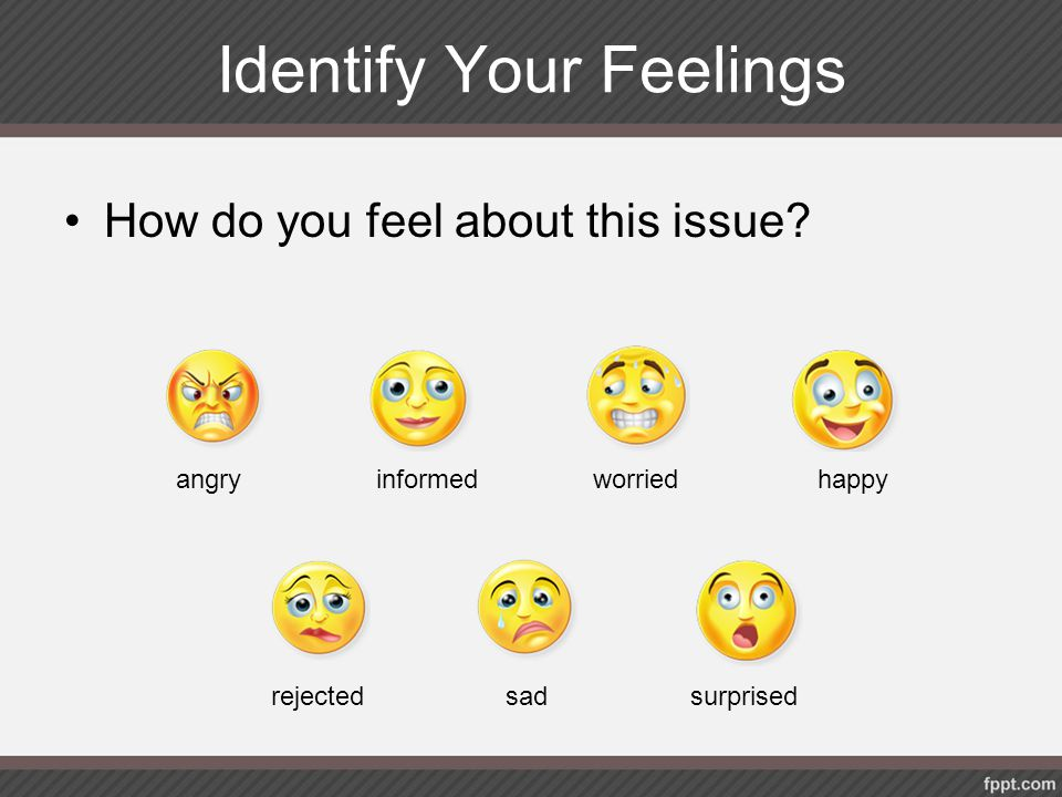 Identify Your Feelings