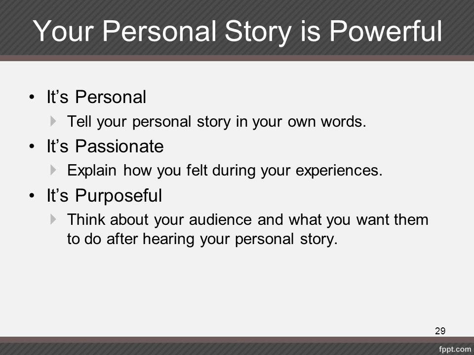 Your Personal Story is Powerful