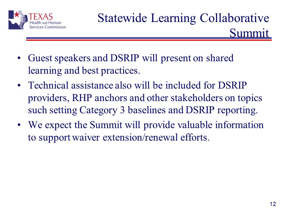 Statewide Learning Collaborative Summit