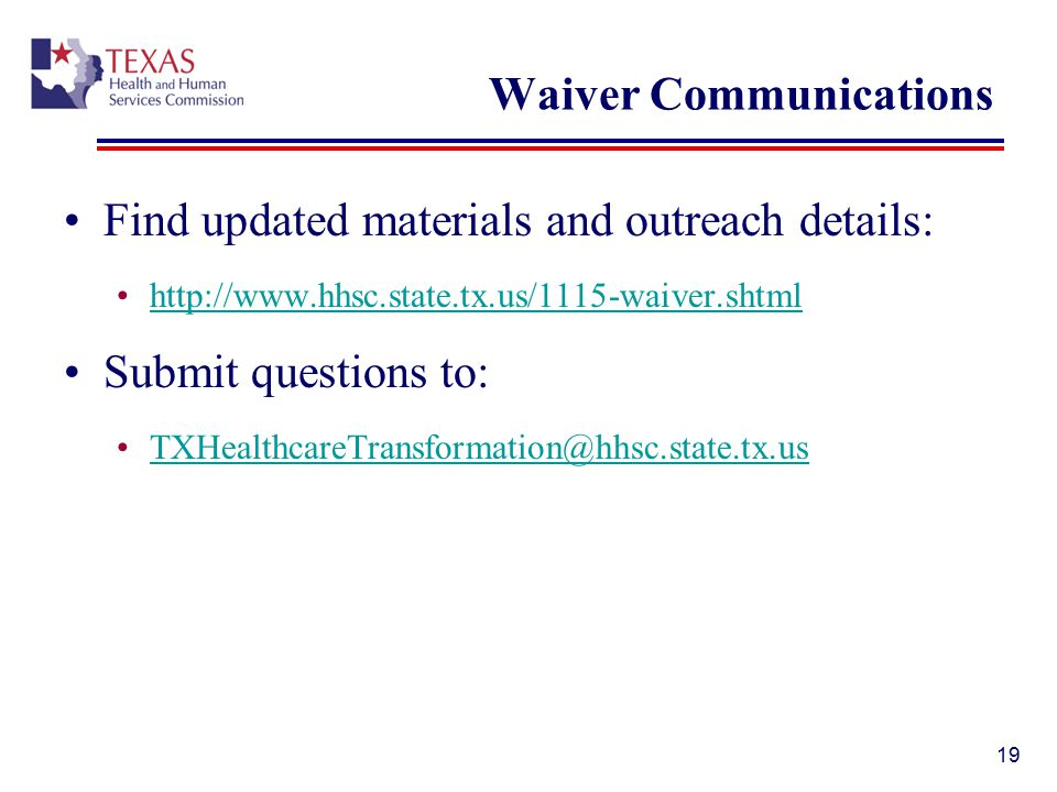 Waiver Communications