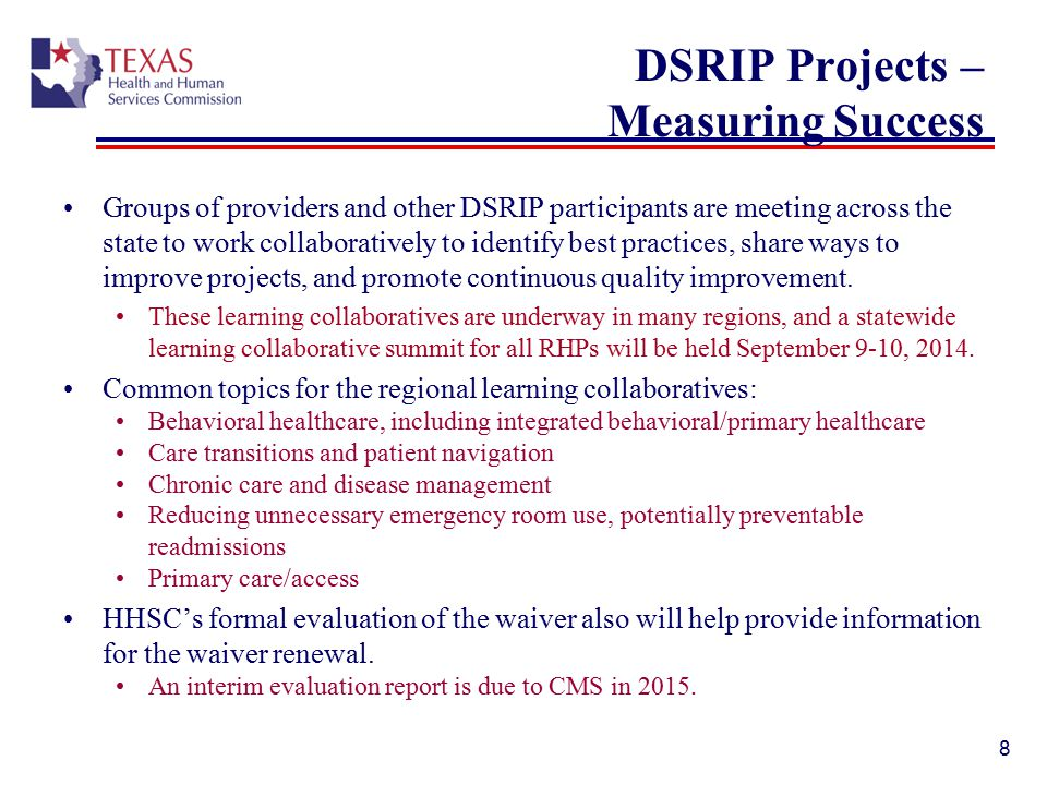 DSRIP Projects – Measuring Success