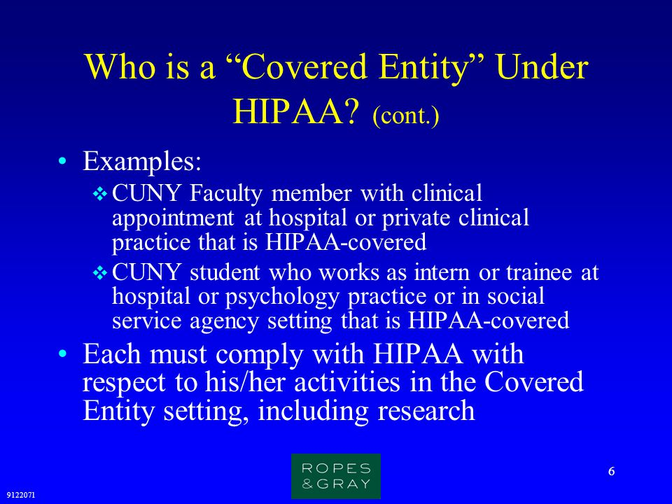 Who is a Covered Entity Under HIPAA (cont.)