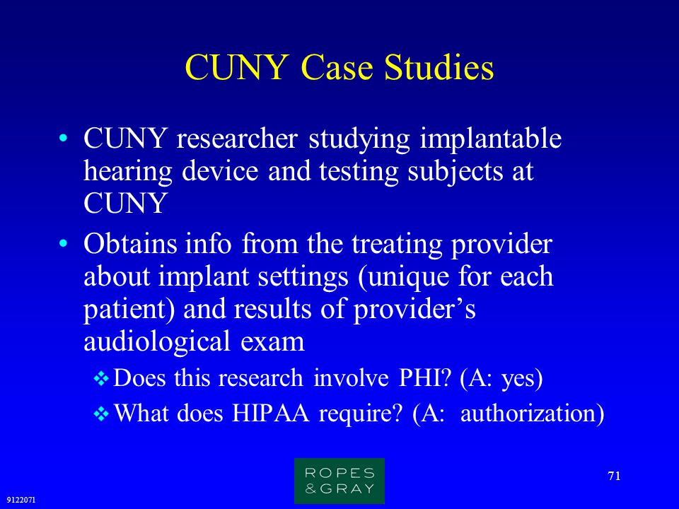 CUNY Case Studies CUNY researcher studying implantable hearing device and testing subjects at CUNY.