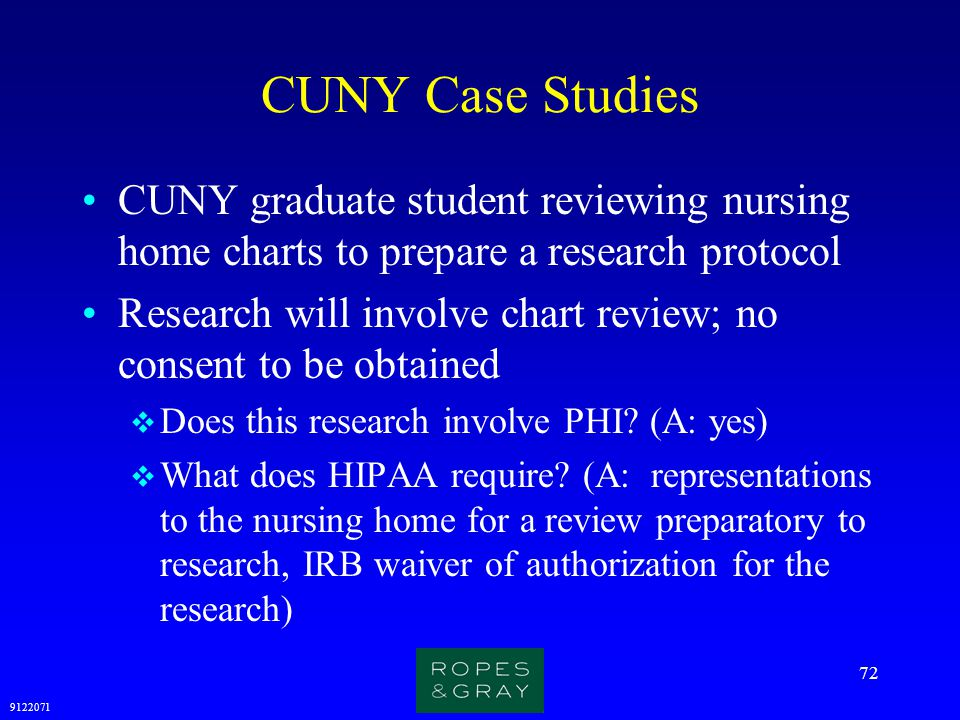 CUNY Case Studies CUNY graduate student reviewing nursing home charts to prepare a research protocol.