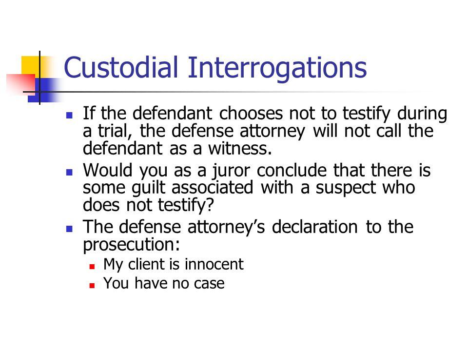 Custodial Interrogations
