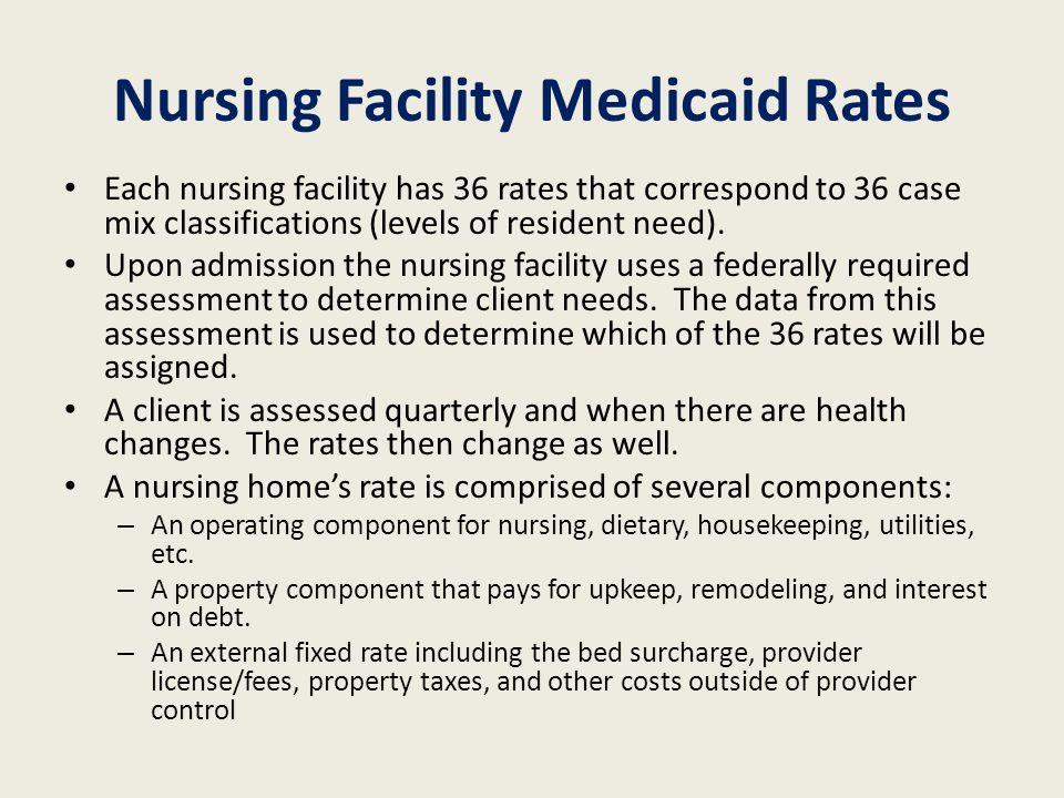 Nursing Facility Medicaid Rates