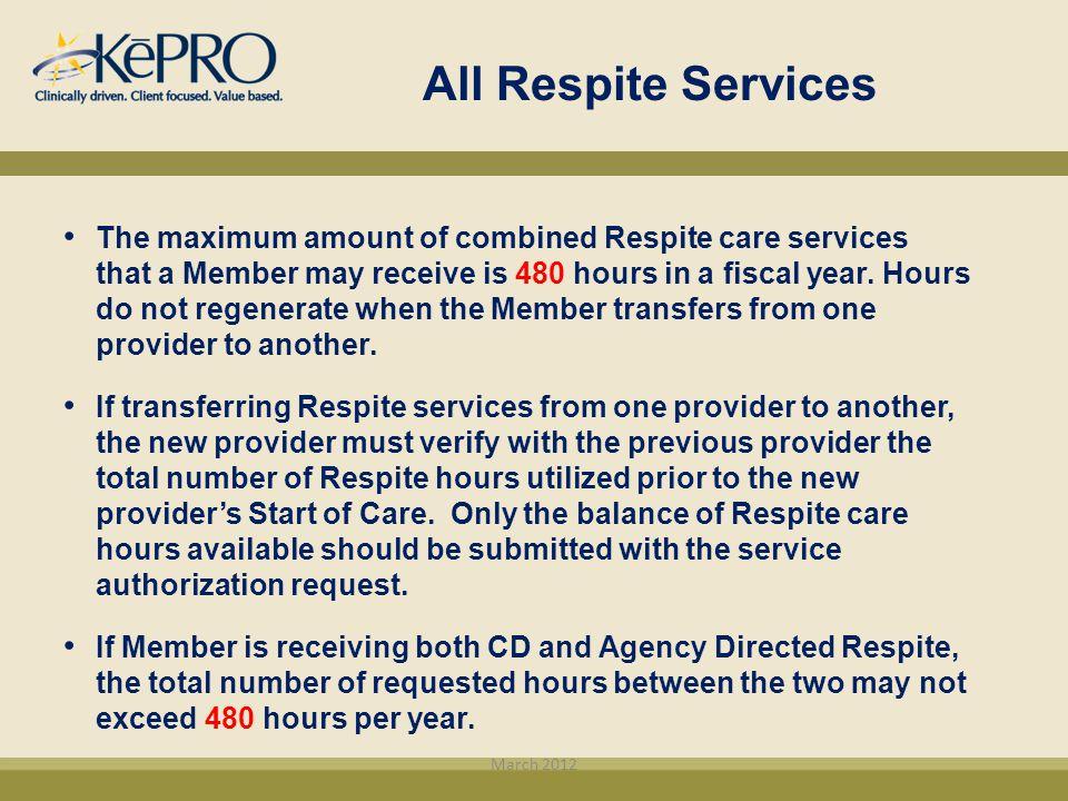 All Respite Services