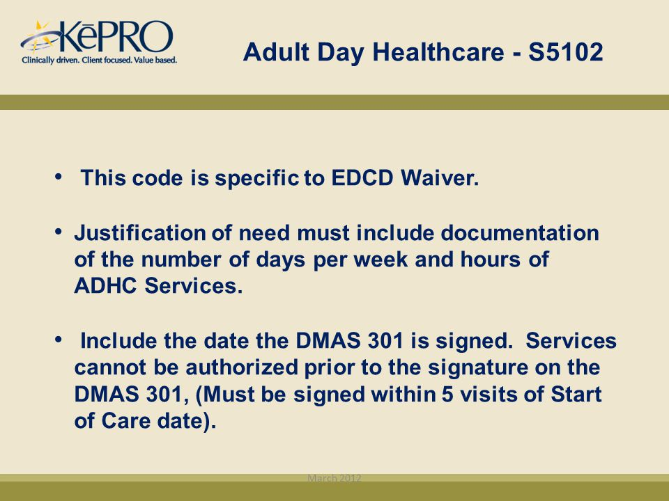 Adult Day Healthcare - S5102