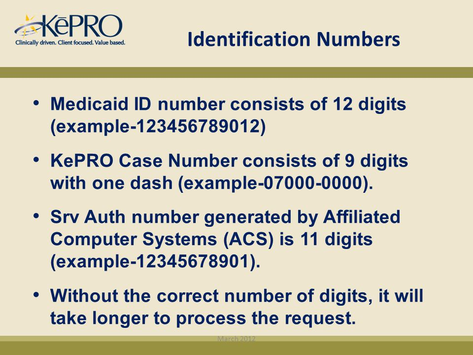 Identification Numbers