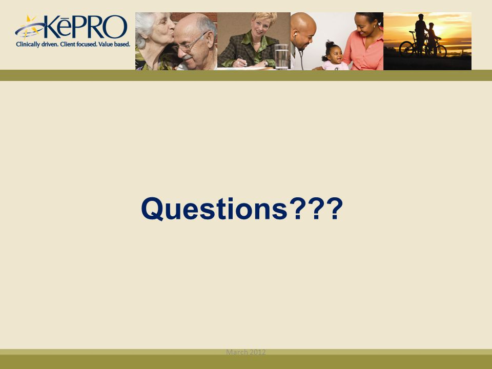 Questions March 2012