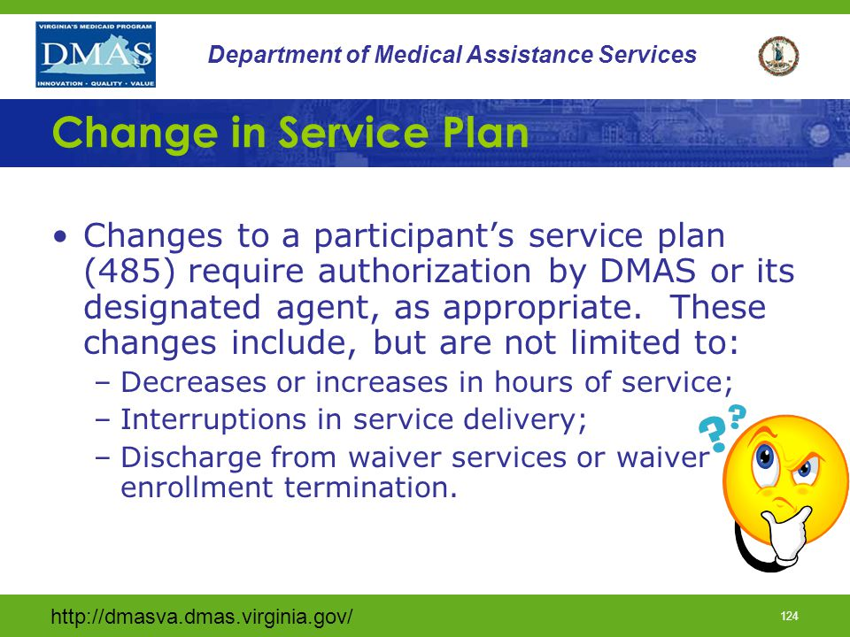 Change in Service Plan