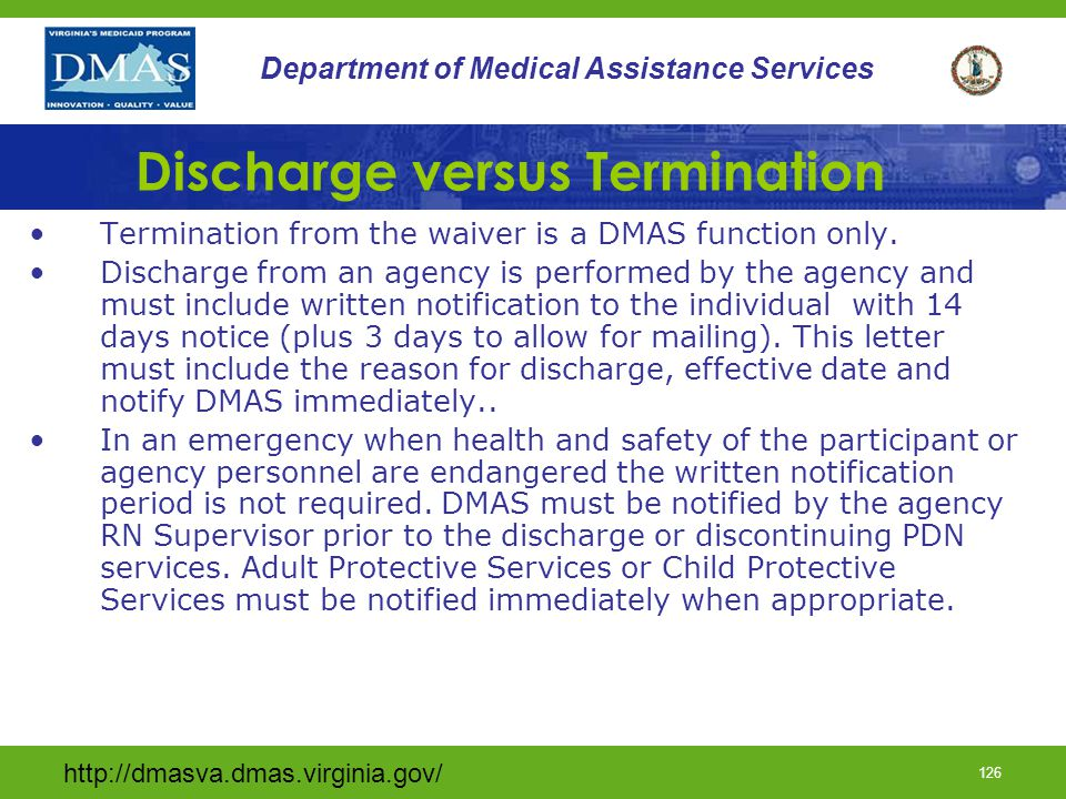 Discharge versus Termination