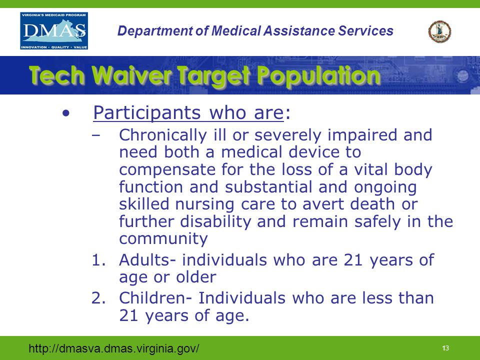 Tech Waiver Target Population