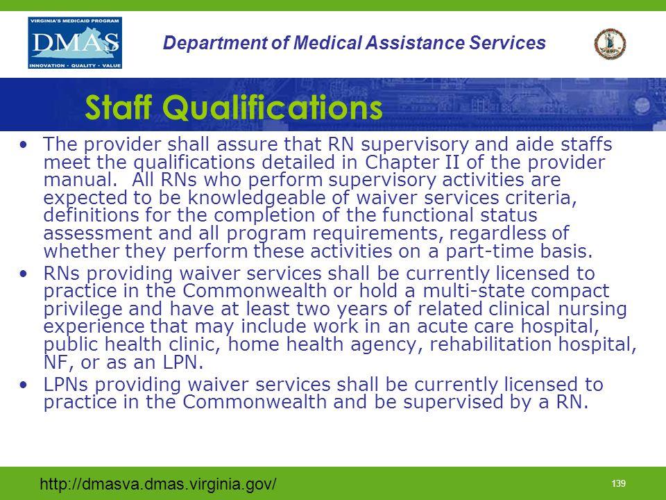Staff Qualifications