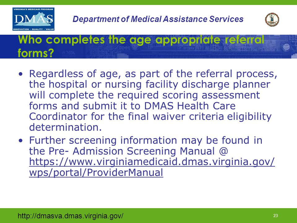 Who completes the age appropriate referral forms