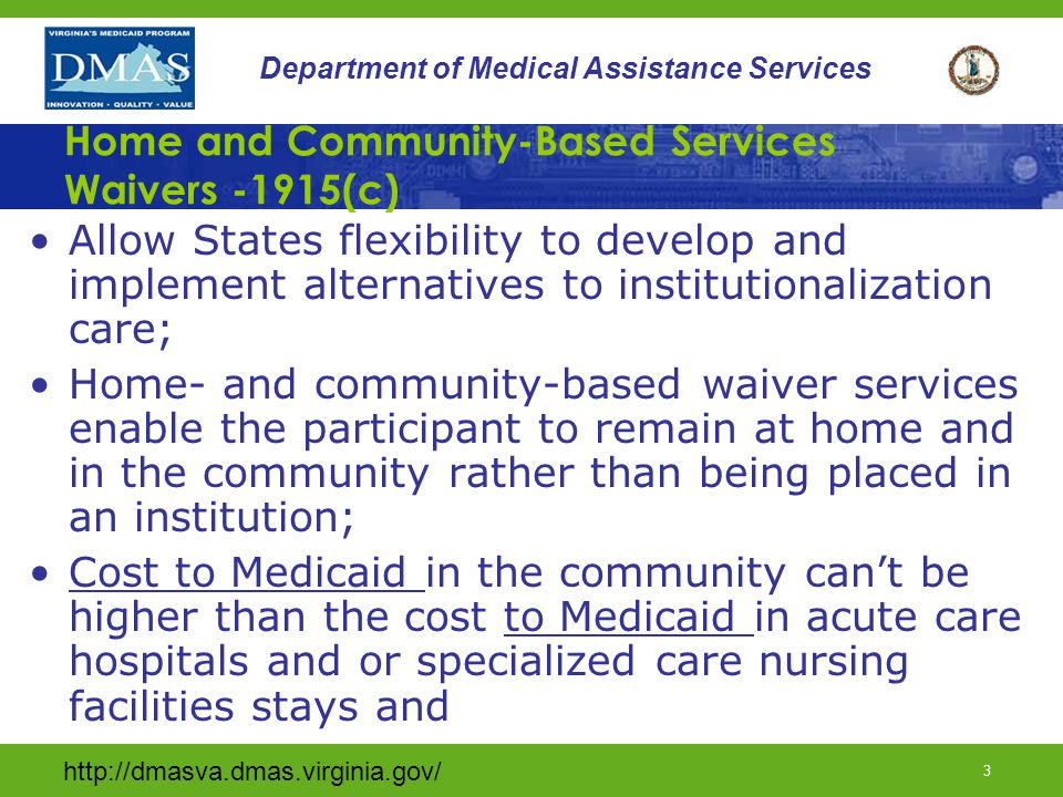 Home and Community-Based Services Waivers -1915(c)