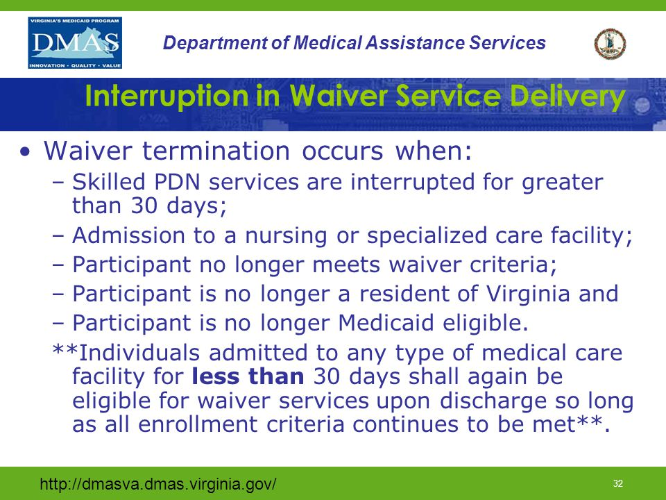 Interruption in Waiver Service Delivery