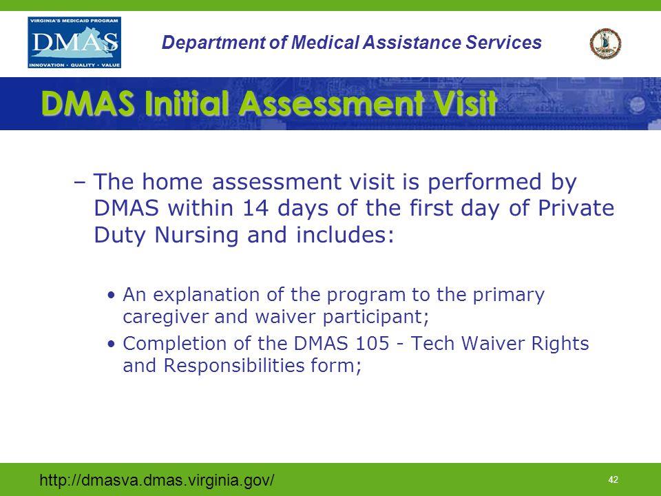DMAS Initial Assessment Visit