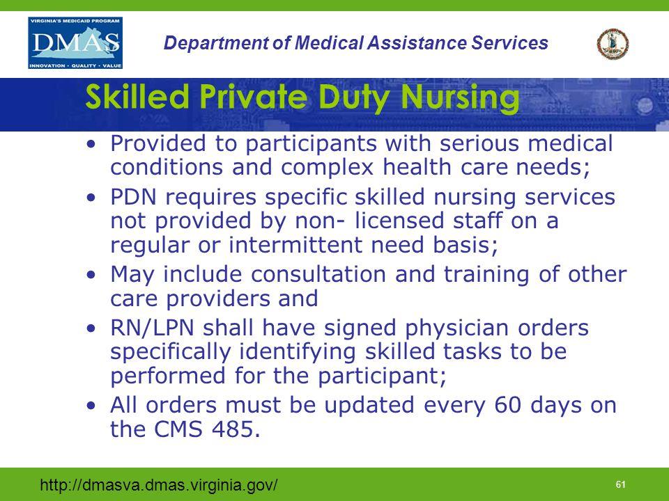 Skilled Private Duty Nursing