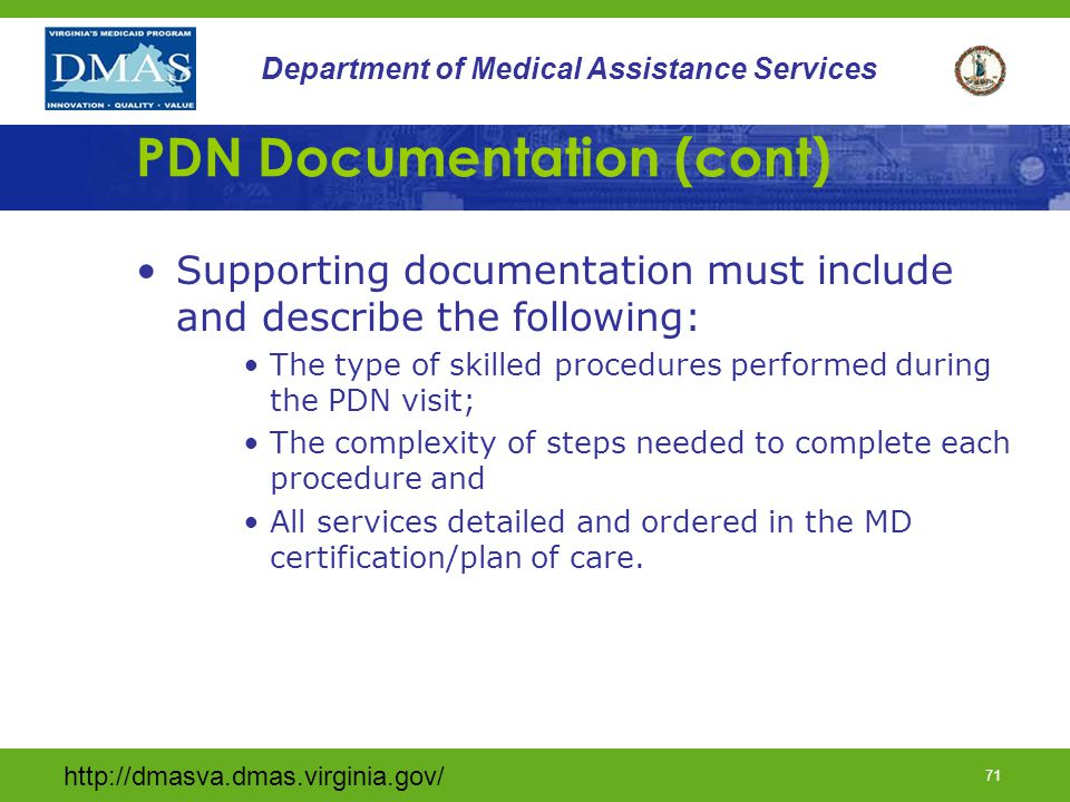 PDN Documentation (cont)