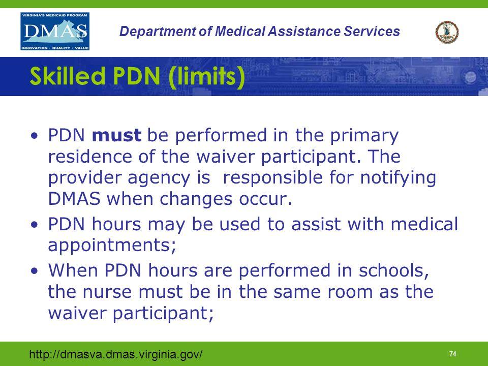 Skilled PDN (limits)