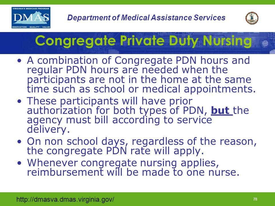 Congregate Private Duty Nursing