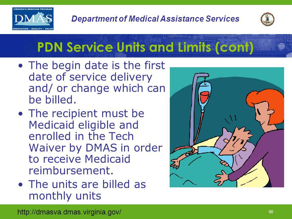 PDN Service Units and Limits (cont)