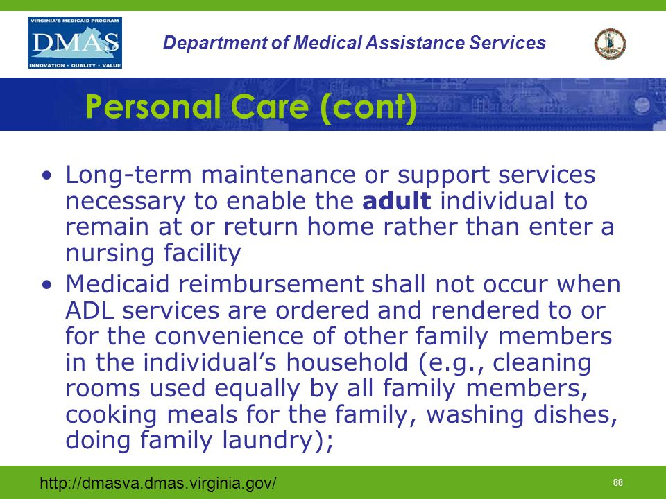 Personal Care (cont)