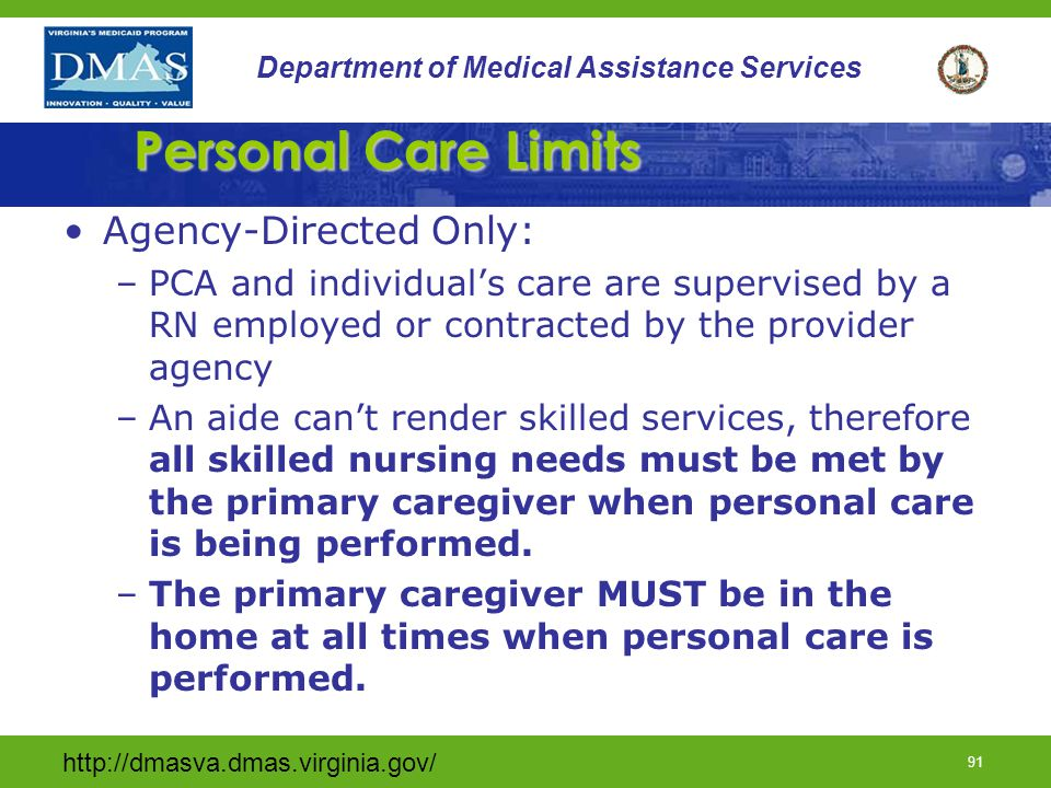 Personal Care Limits Agency-Directed Only: