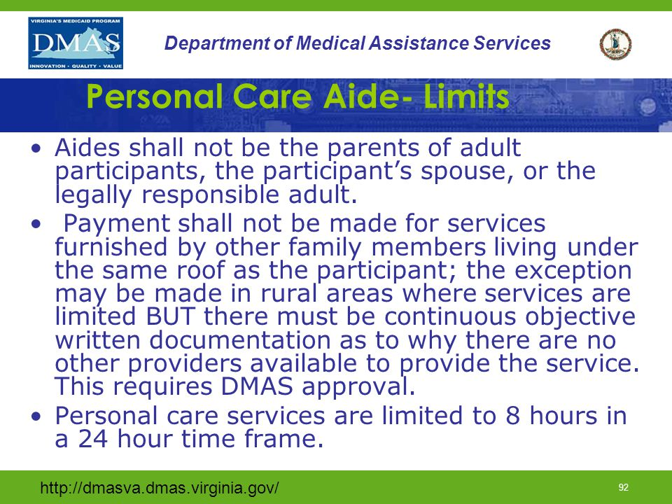 Personal Care Aide- Limits