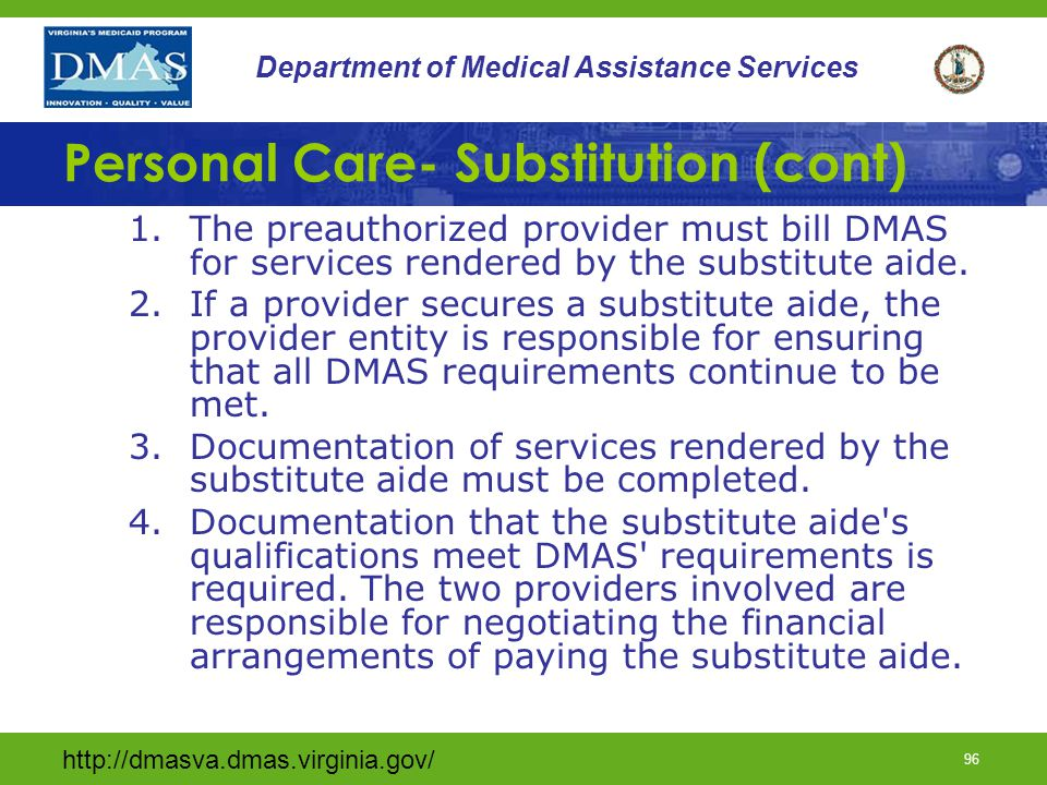 Personal Care- Substitution (cont)