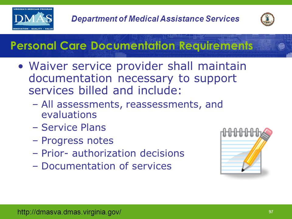 Personal Care Documentation Requirements