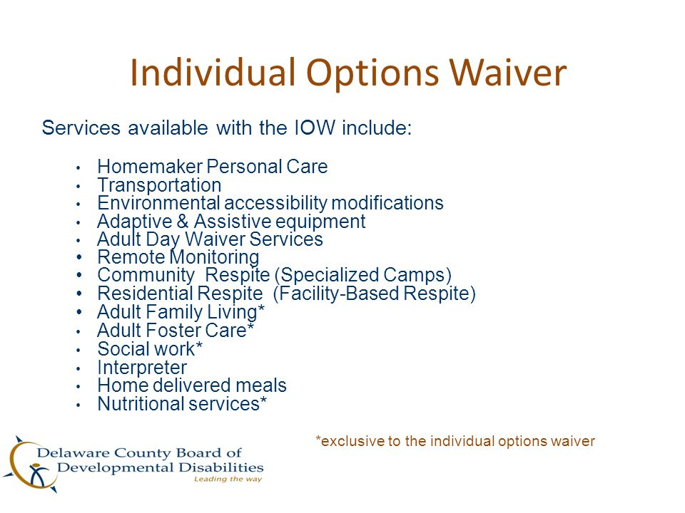 Individual Options Waiver
