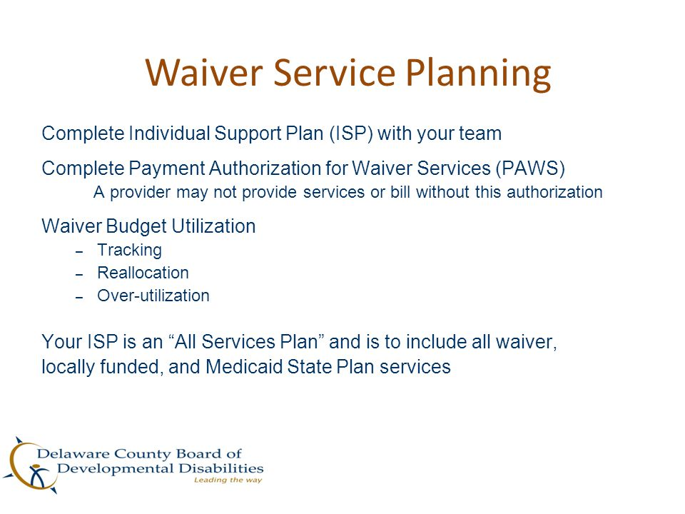 Waiver Service Planning