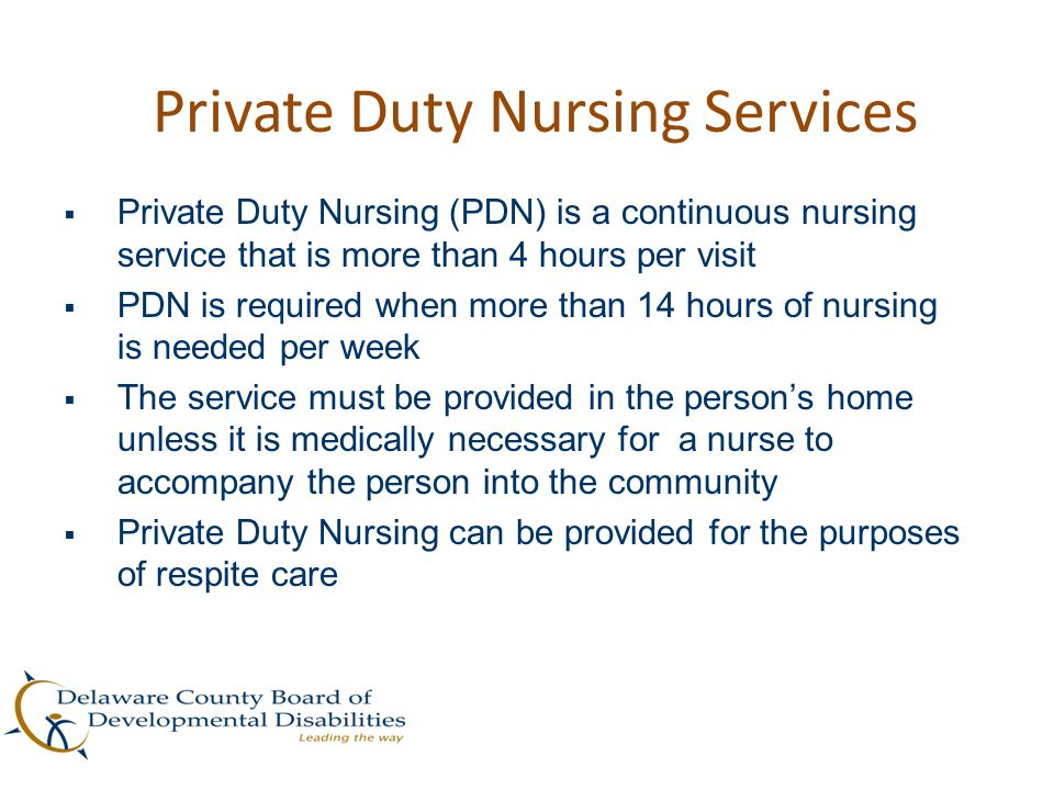 Private Duty Nursing Services